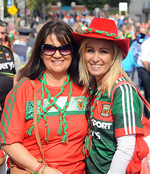 Dympna Walsh and Marlyn Loran from Balla pictured at the All Ireland Football Final.<br /> Pic Conor McKeown