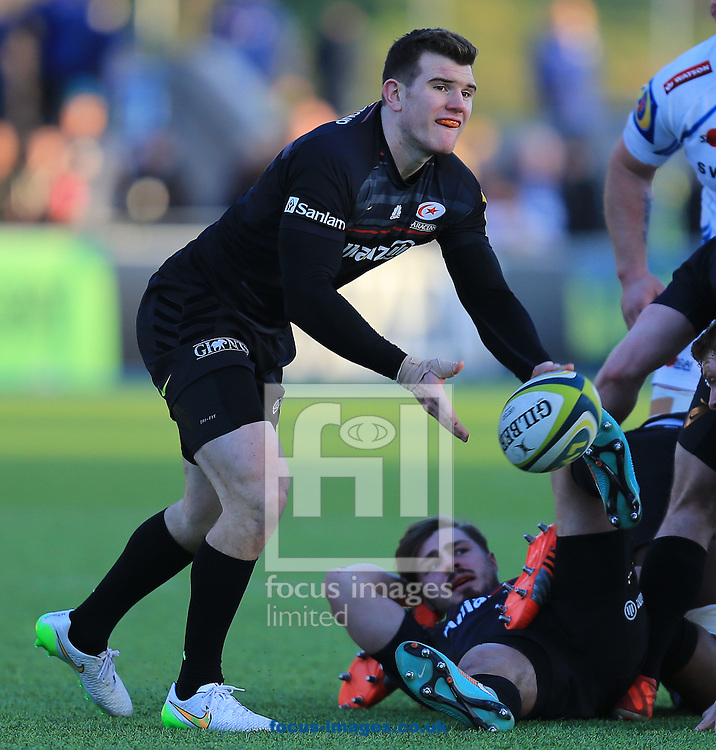 Ben Spencer of saracens during the LV Cup match at Allianz Park, London<br /> Picture by Michael Whitefoot/Focus Images Ltd 07969 898192<br /> 07/02/2015