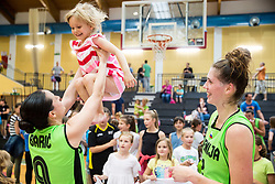 Nika Baric and Eva Lisec of Slovenia  after friendly basketball match between Women National teams of Slovenia and Croatia before FIBA Eurobasket Women 2017 in Prague, on June 1, 2017 in Celje, Slovenia. Photo by Vid Ponikvar / Sportida
