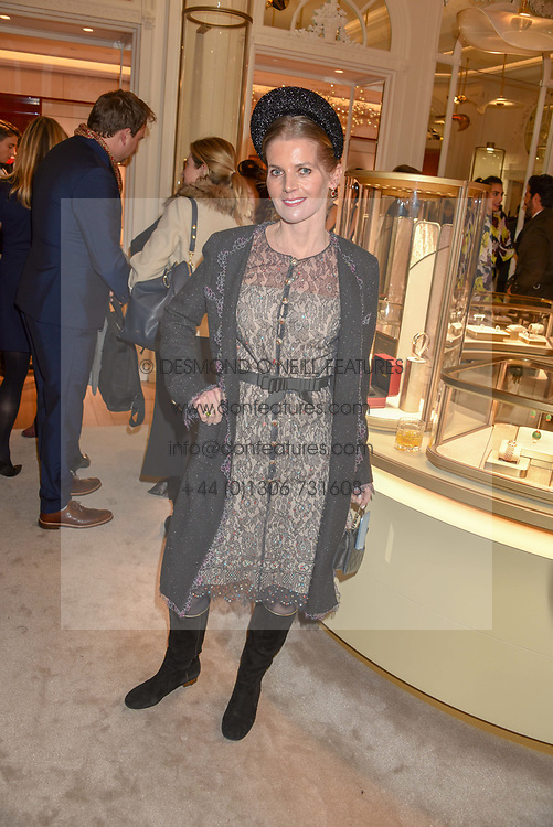 COUNTESS ALEXANDRA TOLSTOY-MILOSLAVSKY at the reopening of the Cartier Boutique, New Bond Street, London, England. 31 January 2019. <br /> <br /> ***For fees please contact us prior to publication***