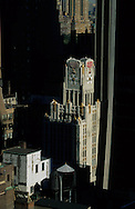 New York. Elevated view on 57th street Solow building and legion tower on 57th street , Midtown Manhattan  New York  United States   /  le solow building et l immeuble de la legion, sur la 57 em rue , midtown Manhattan  New York  Etats unis