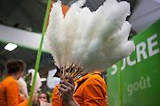 2700 barbes à papa ont été distribuées sur le Stand du CEDUS (Centre d'etude et de documentation du Sucre, organisme interprofessionnel de la filière du sucre) lors du Salon de l'agriculture de Paris, février 2015.