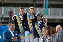 Podium Belgian Chamionship, Devos Pieter, Clemens Pieter, Daigneux-Lange Fabienne<br /> Belgisch Kampioenschap Lanaken 2016<br /> © Hippo Foto - Dirk Caremans<br /> 17/09/16