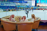 Emirats Arabes Unis, Dubai, Centre commercial Mall of the Emirates, patinoire // United Arab Emirates, Dubai, the Mall of the Emirates commercial center, ice rink