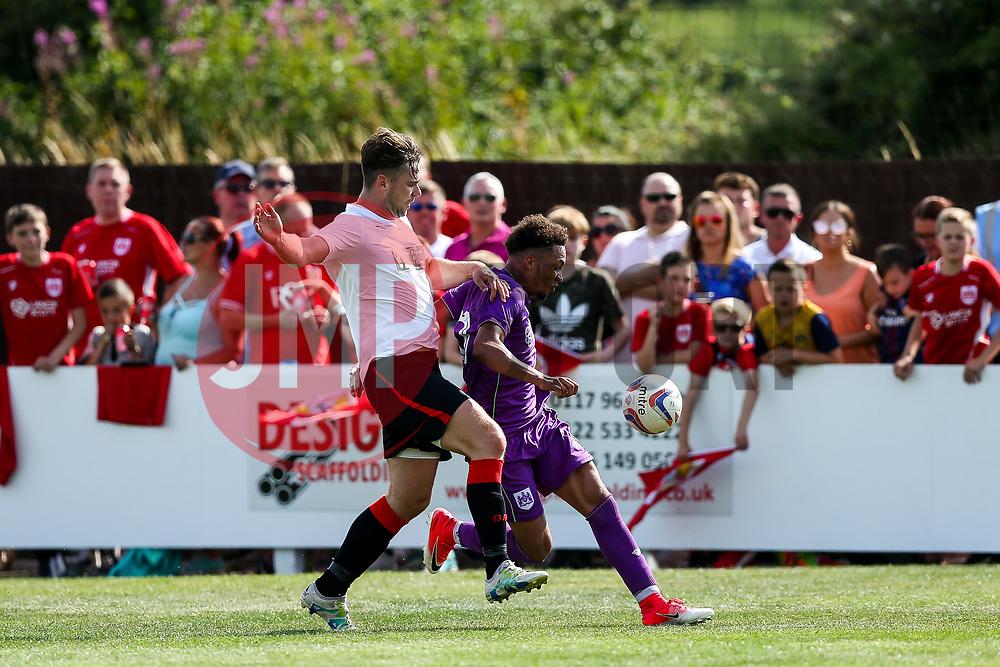 Freddie Hinds of Bristol City in action - Rogan/JMP - 09/07/2017 - The Creek - Bristol, England - Bristol Manor Farm v Bristol City - Pre-season Friendly.