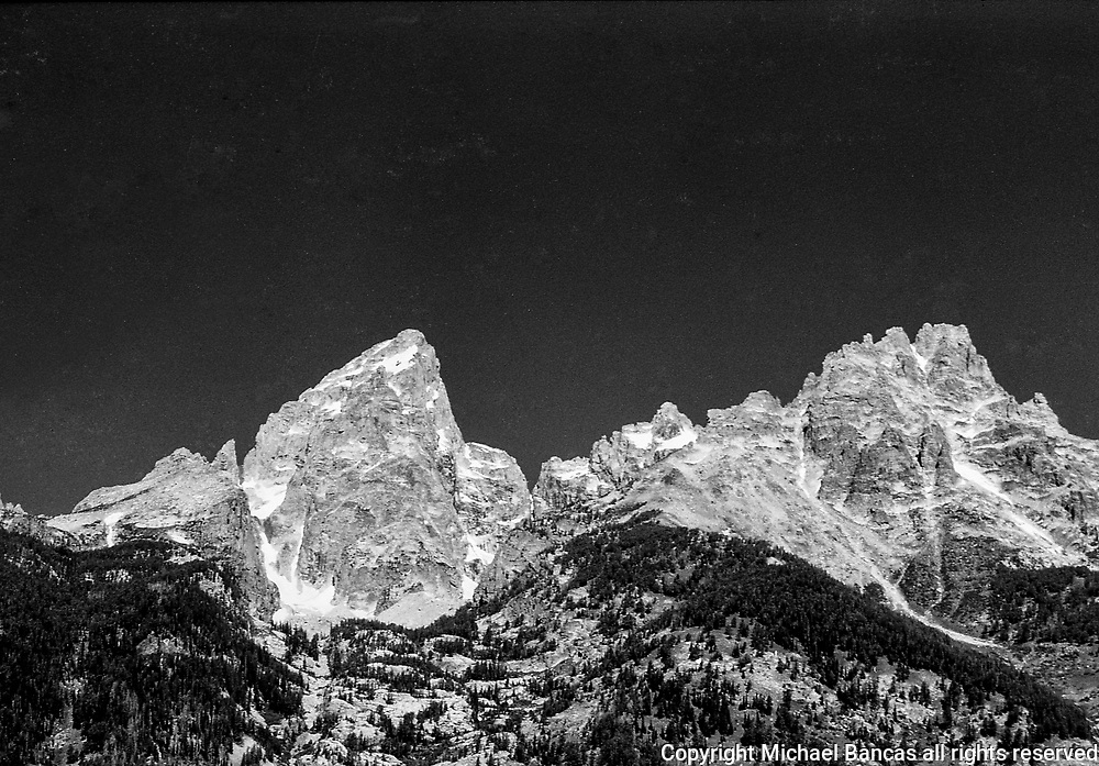 Grand Tetons Wyoming, With Grand Teton and Mt. Owen.