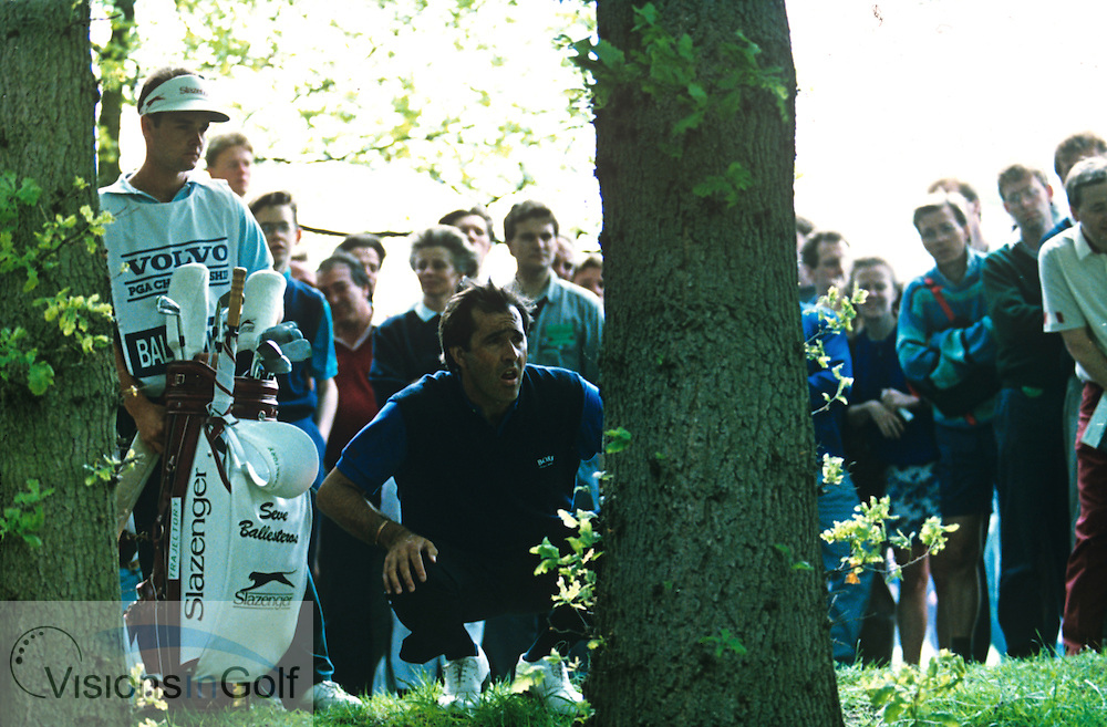 Caddie Billy Foster and Seve Ballesteros PGA, Wentworth 1991<br /> Photo credit:  Mark Newcombe / www.visionsingolf.com