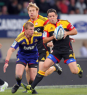 Mike Delany in action for the Chiefs..Investec Super Rugby - Highlanders v Chiefs, 25 February 2011, Carisbrook Stadium, Dunedin, New Zealand..Photo: Rob Jefferies / www.photosport.co.nz/SPORTZPICS