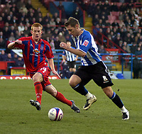 Photo: Matt Bright/Sportsbeat Images.<br /> Crystal Palace v Sheffield Wednesday. Coca Cola Championship. 15/12/2007.<br /> Burton O'Brien of Sheffield Wednesday &  Ben Watson of Crystal Palace