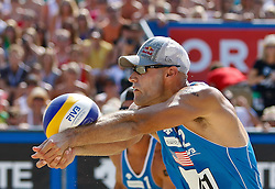 07.08.2011, Klagenfurt, Strandbad, AUT, Beachvolleyball World Tour Grand Slam 2011, im Bild Phill Dalhausser USA, AUT. EXPA Pictures © 2011, PhotoCredit: EXPA/ Gert Steinthaler