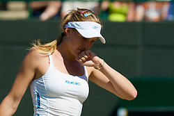 LONDON, ENGLAND - Tuesday, July 1, 2008: Nicole Vaidisova (CZE) looks dejected as she loses during the Ladies' Singles Quarter-Final on day eight of the Wimbledon Lawn Tennis Championships at the All England Lawn Tennis and Croquet Club. (Photo by David Rawcliffe/Propaganda)