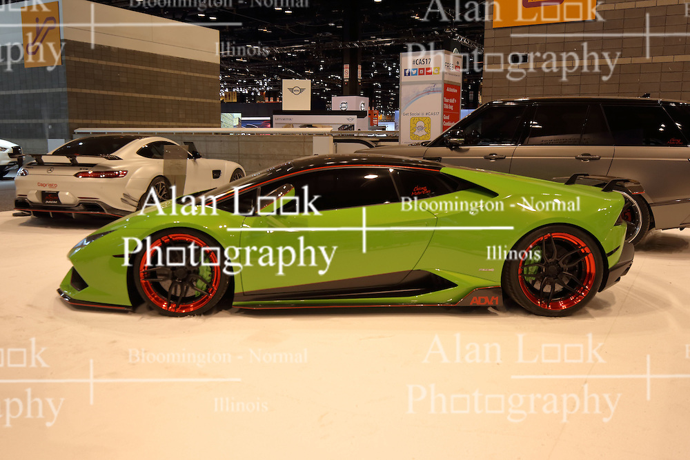 09 February 2017: Lamborghini Kryptomite ADV1<br /> <br /> First staged in 1901, the Chicago Auto Show is the largest auto show in North America and has been held more times than any other auto exposition on the continent.  It has been  presented by the Chicago Automobile Trade Association (CATA) since 1935.  It is held at McCormick Place, Chicago Illinois<br /> #CAS17