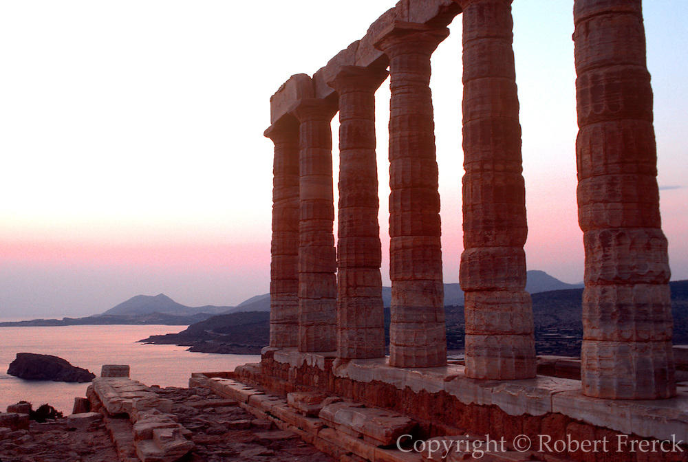 GREECE, HISTORIC SITES Cape Sounion Poseidon Temple 444BC