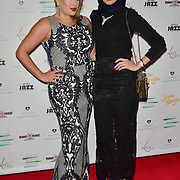 Nadia Essex and Maryam Taqi Arrivers at the Nailing Mental Health: Valentine's Ball The Hurlingham Club, Ranelagh Gardens on 14 Feb 2018, London, United Kingdom