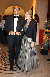 BRUCE OLDFIELD and ROMILY, LADY McALPINE at a fundraising gala to celebrate 150 years of The National Portrait Gallery, at the NPG, St.Martin's Place, London on 28th February 2006.<br /><br />NON EXCLUSIVE - WORLD RIGHTS