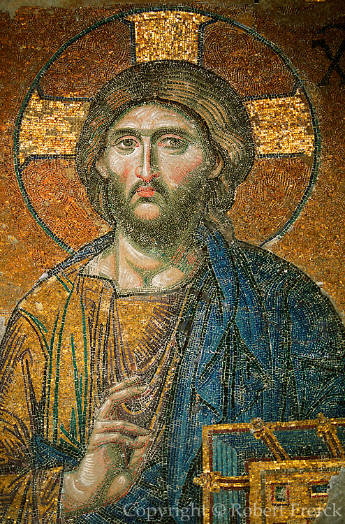 TURKEY, ISTANBUL, BYZANTINE Aya Sofya 'Deesis' mosaic of Christ
