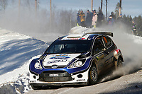 MOTORSPORT - WRC 2010 - RALLY SWEDEN - KARLSTAD (SWE) - 11 to 14/02/2010 - PHOTO : FRANCOIS BAUDIN / DPPI<br /> ANDREAS MIKKELSEN (NOR) / OLA FLOENE (NOR) - FORD FIESTA S2000 - ACTION