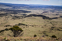 Looking north from the summit of Capulin Volcano.  To the right of  center is the 7,195 ft. Mud Hill and 6,890 ft. Little Capulin.  Northeast New Mexico.