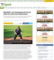 Melissa Mayeux, Le Monde Sport, 2015.