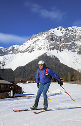 22.03.2018, Ramsau am Dachstein, AUT, Red Bull Der lange Weg, Überquerung Alpenhauptkamm, längste Skitour der Welt, im Bild Bernhard Hug (SUI) // Bernhard Hug of Switzerland during the Red Bull Der lange Weg, crossing of the main ridge of the Alps, longest ski tour of the world, in Ramsau am Dachstein, Austria on 2018/03/22. EXPA Pictures © 2018, PhotoCredit: EXPA/ Martin Huber