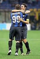 """Esultanza Antonio Cassano Inter<br /> Goal celebration<br /> Milano 30/09/2012 Stadio """"San Siro""""<br /> Football Calcio Serie A 2012/13<br /> Inter v Fiorentina<br /> Foto Insidefoto Paolo Nucci"""