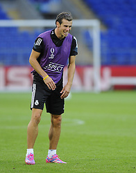 Real Madrid's Gareth Bale - Photo mandatory by-line: Joe Meredith/JMP - Mobile: 07966 386802 11/08/2014 - SPORT - FOOTBALL - Cardiff - Cardiff City Stadium - Real Madrid v Sevilla - UEFA Super Cup - Press Conference and Open Training session