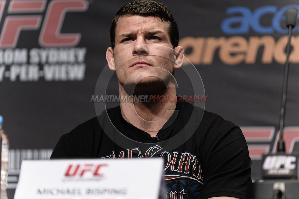 """SYDNEY, AUSTRALIA, FEBRUARY 23, 2011: Michael Bisping is pictured during the pre-fight press conference for """"UFC 127: Penn vs. Fitch"""" inside Star City Hotel and Casino in Sydney, Australia on February 23, 2011"""