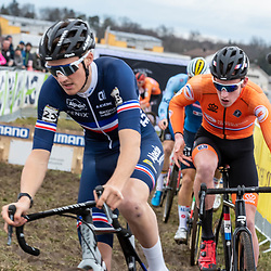 20190201: UCI CX Worlds : Dübendorf: Antoine Benoist and Ryan Kamp chasing the leader