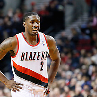 06 December 2013: Portland Trail Blazers shooting guard Wesley Matthews (2) rests during the Portland Trail Blazers 130-98 victory over the Utah Jazz at the Moda Center, Portland, Oregon, USA.