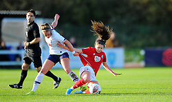 Carla Humphrey of Bristol City competes with Rianna Dean of Tottenham Hotspur Women - Mandatory by-line: Nizaam Jones/JMP - 27/10/2019 - FOOTBALL - Stoke Gifford Stadium - Bristol, England - Bristol City Women v Tottenham Hotspur Women - Barclays FA Women's Super League