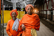 Nomadic priests at Night, at Agra Train Station<br /> <br /> Nikon Df  50mm  ISO 10000  f5  1/100s