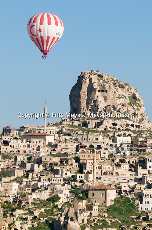 Cappadocia, Nevsehir, Turkey, May 2010. Hot air ballooning is the number one activity in Capadocia. The fairy landscape of Goreme National Park is unique in its kind. Millions of years long, wind and water sculpted the tuffstone into spectacular rock formations.  Photo by Frits Meyst/Adventure4ever.com
