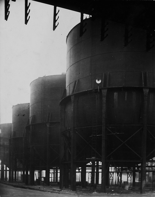 Holding Tanks and Scaffolding, Synthetic Ammonia & Nitrate Company, England, 1928