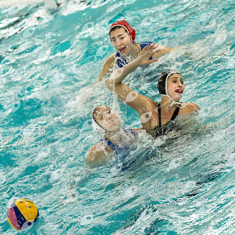 7 Bekhazi CAN<br /> Semi Finals<br /> FINA Women's Water polo Olympic Games Qualifications Tournament 2016<br />  Greece GRE (White) Vs Canada CAN (Black)<br /> Gouda, Netherlands - Swimming pool Groenhovenbad<br /> Day7 27-03-2016<br /> Photo G.Scala/Insidefoto/Deepbluemedia
