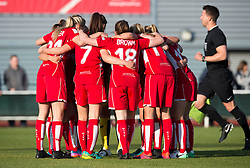 Bristol City Women team huddle - Mandatory by-line: Paul Knight/JMP - 09/05/2017 - FOOTBALL - Stoke Gifford Stadium - Bristol, England - Bristol City Women v Manchester City Women - FA Women's Super League Spring Series