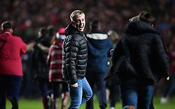 Bristol City fans celebrates  on the pitch  - Mandatory by-line: Joe Meredith/JMP - 20/12/2017 - FOOTBALL - Ashton Gate Stadium - Bristol, England - Bristol City v Manchester United - Carabao Cup Quarter Final