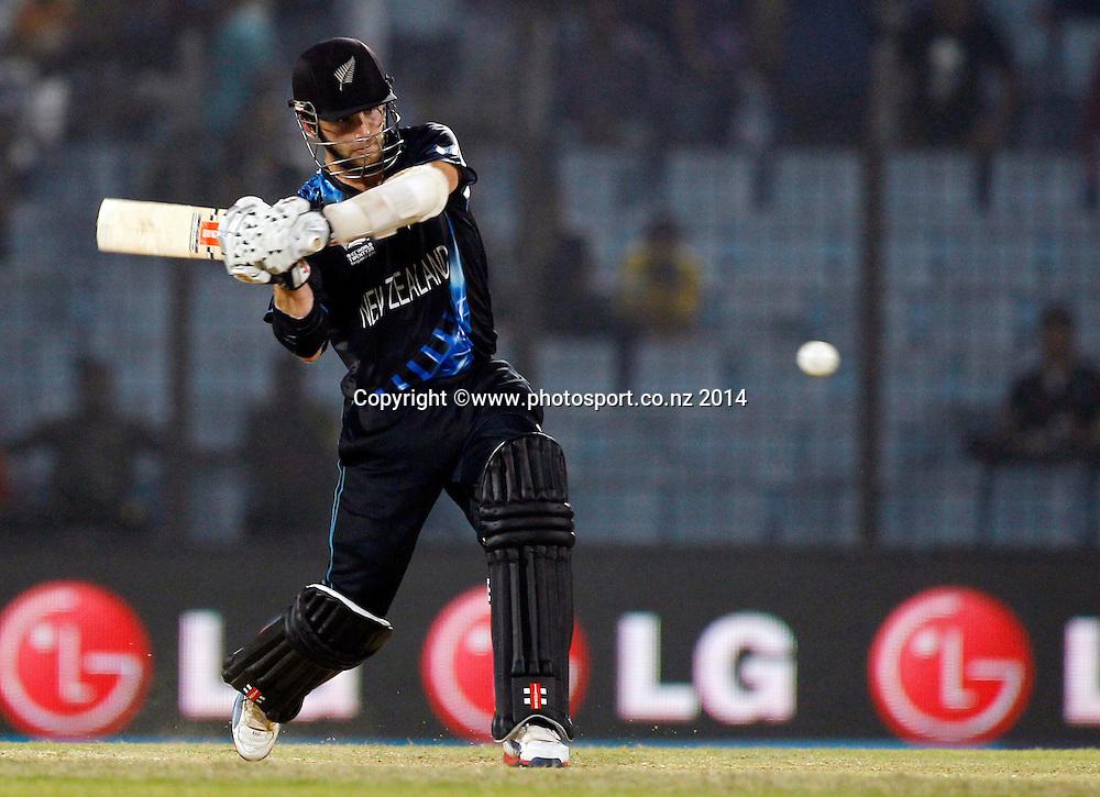 Kane Williamson batting - ICC World Twenty20 cricket, Zahur Ahmed Chowdhury Stadium, Chittagong, Bangladesh. New Zealand v Sri Lanka, 31 March 2014. Photo: www.photosport.co.nz