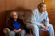Jeanne Moten and her mother Edna Moten at their home in Washington County, PA. Both women have suffered health problems believed to be link to Marcellus shale drilling in their community.