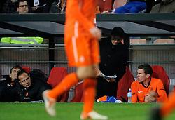 09-02-2011 VOETBAL: NEDERLAND - OOSTENRIJK: EINDHOVEN<br /> Netherlands in a friendly match with Austria won 3-1 / Kevin Strootman and Phillip Cocu<br /> ©2011-WWW.FOTOHOOGENDOORN.NL