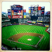 An iPhone panoramic view of Citi Field, Queens, the home of the New York Mets during the New York Mets V Arizona Diamondbacks Baseball game at Citi Field, Queens, New York. 5th May 2012. Photo Tim Clayton