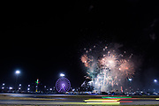 January 24-28, 2018. IMSA Weathertech Series ROLEX Daytona 24. Fireworks during the Daytona 24