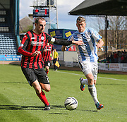 St Johnstone&rsquo;s David Mackay and Dundee's Jim McAlister - Dundee v St Johnstone, SPFL Premiership at Dens Park <br /> <br />  - &copy; David Young - www.davidyoungphoto.co.uk - email: davidyoungphoto@gmail.com