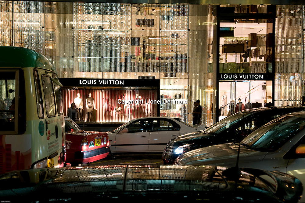 Louis Vuitton store, Pidder street, Hong Kong.