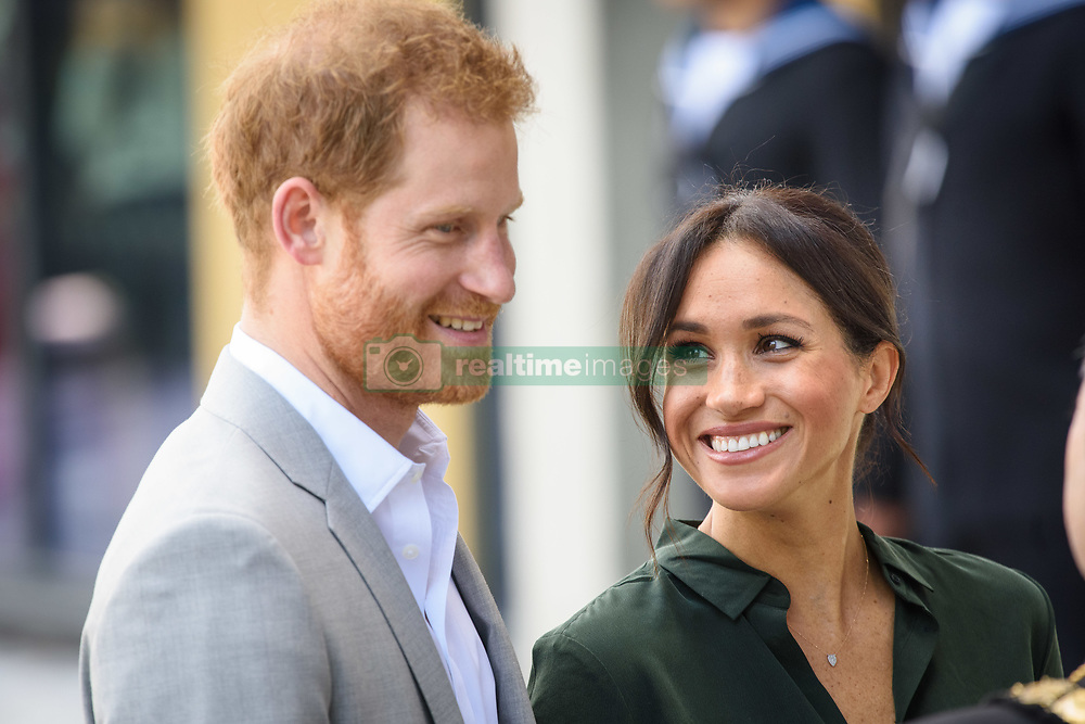 Prince Harry and Meghan Markle, The Duke and Duchess of Sussex arrive at the University of Chichester, Bognor Regis, West Sussex, as part of their first joint official visit to Sussex. Picture date:  Wednesday October 3rd, 2018. Photo credit should read: Matt Crossick/ EMPICS.