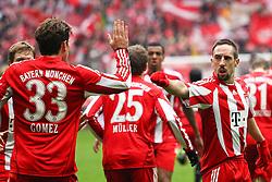 12.02.2011, Allianz Arena, Muenchen, GER, 1.FBL, FC Bayern Muenchen vs TSG 1899 Hoffenheim, im Bild Jubel nach dem 1-0 Mario Gomez (Bayern #33) mit Franck Ribery (Bayern #7)  , EXPA Pictures © 2011, PhotoCredit: EXPA/ nph/  Straubmeier       ****** out of GER / SWE / CRO  / BEL ******