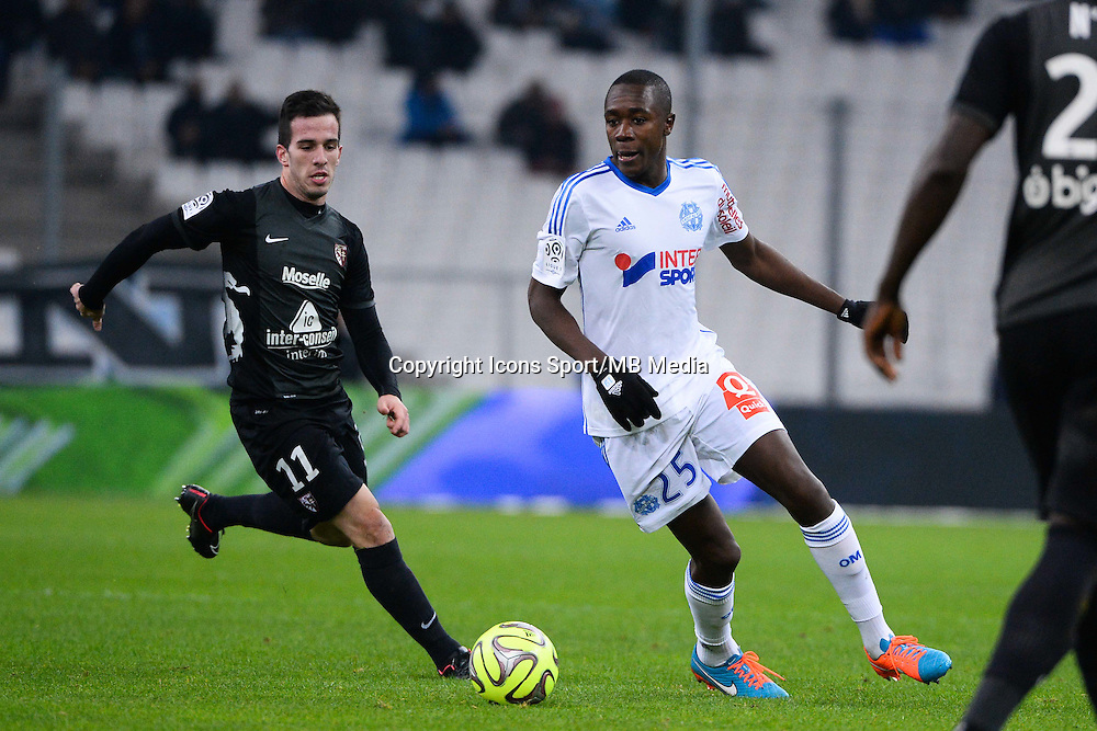 Federico ANDRADA / Giannelli IMBULA - 07.12.2014 - Marseille / Metz - 17eme journee de Ligue 1 -<br />