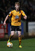 Bradley Halliday of Cambridge United in action during the EFL Sky Bet League 2 match between Cambridge United and Hartlepool United at the Cambs Glass Stadium, Cambridge, England on 14 March 2017. Photo by Harry Hubbard.