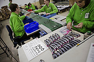 VEGHEL, THE NETHERLANDS, December 14, 2009 The Dutch 'Focus on Vision' factory produces very low cost adjustable glasses for third world countries. The strength of the glasses can be easy adjusted so that one pair of glasses has an adjustable range from -1 to -4 or +1 to +4 and can be used for 90 percent of the common eye disorders. ///// Michel de Groot for the International Herald Tribune