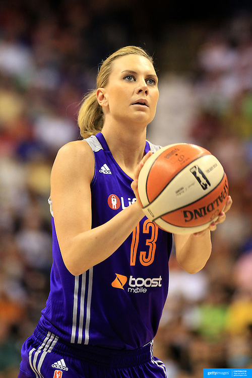 Penny Taylor, Phoenix Mercury, in action during the Connecticut Sun V Phoenix Mercury, WNBA regular season game at Mohegan Sun Arena, Uncasville, Connecticut, USA. 29th June 2013. Photo Tim Clayton