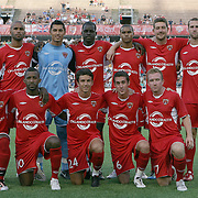 The team photo of the Orlando City Lions during an International Friendly soccer match between English Premier League team Newcastle United and the Orlando City Lions of the United Soccer League, at the Florida Citrus Bowl on Saturday, July 23, 2011 in Orlando, Florida. Orlando won the match 1-0. (AP Photo/Alex Menendez)